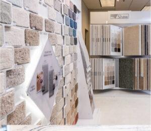 Variety of flooring products in showroom   Atlanta Flooring Design Centers Inc