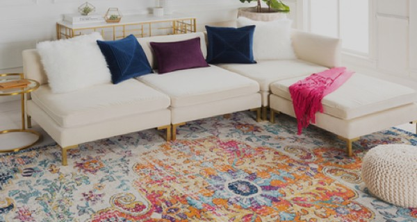 Rug design for living room | Atlanta Flooring Design Centers Inc